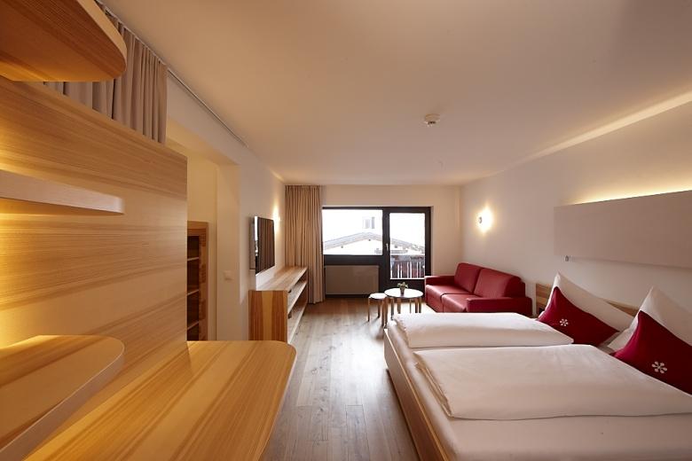 Familienzimmer und separates Schlafzimmer