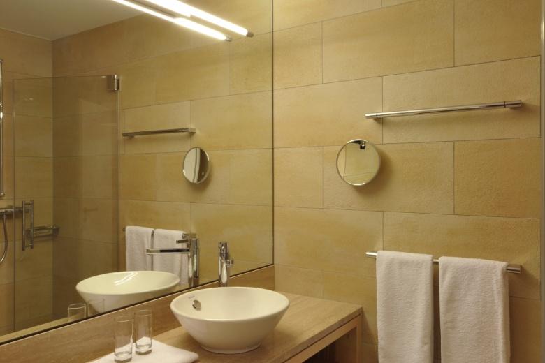 Ansicht Badezimmer im Kinderhotel, Familienferien in Österreich