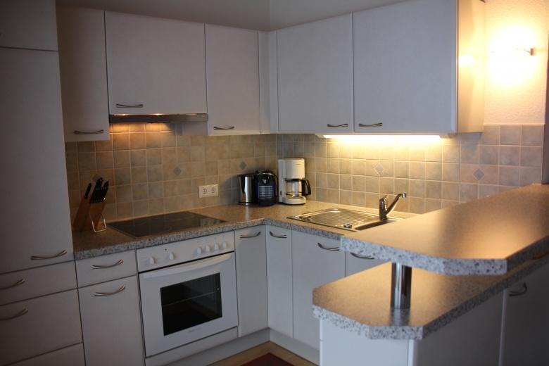 Wohnküche im Ferienapartement, Ferienwohnungen Mateera im Montafon