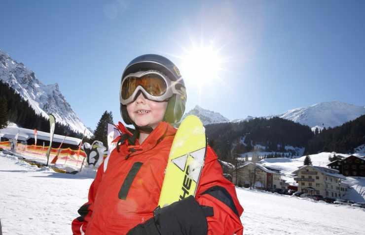 Familienferien, Kinderskikurs, Hotel Mateera, Gargellen, Montafon, Vorarlberg, Österreich