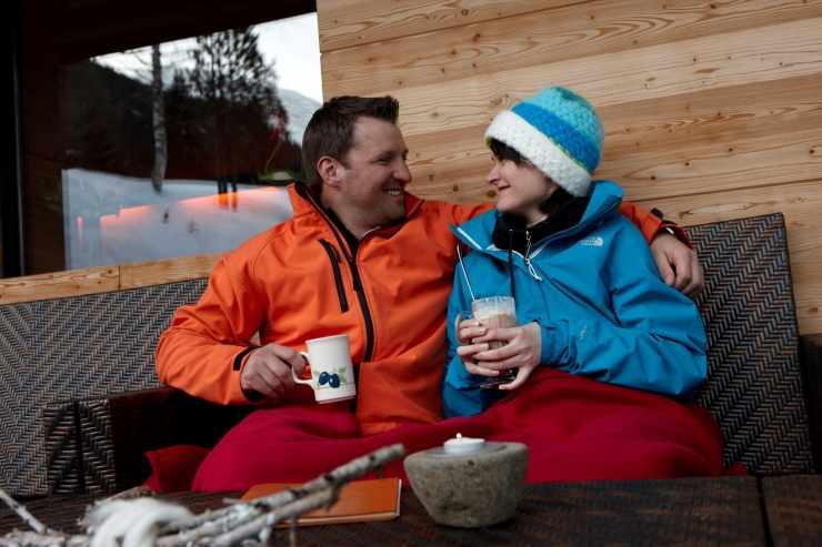 Apres Ski, Hotel Mateera, Gargellen, Montafon, Vorarlberg, Österreich