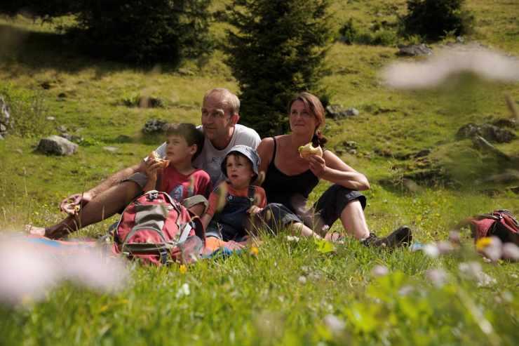 Wandern mit der Familie, Hotel Mateera, Gargellen, Montafon, Vorarlberg