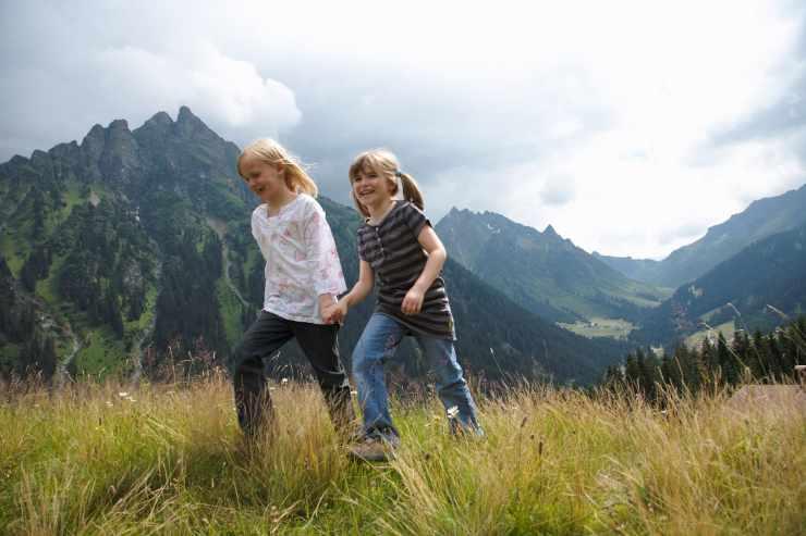 Wandern, Familienurlaub, Familienhotel Mateera, Gargellen, Montafon, Vorarlberg, Österreich