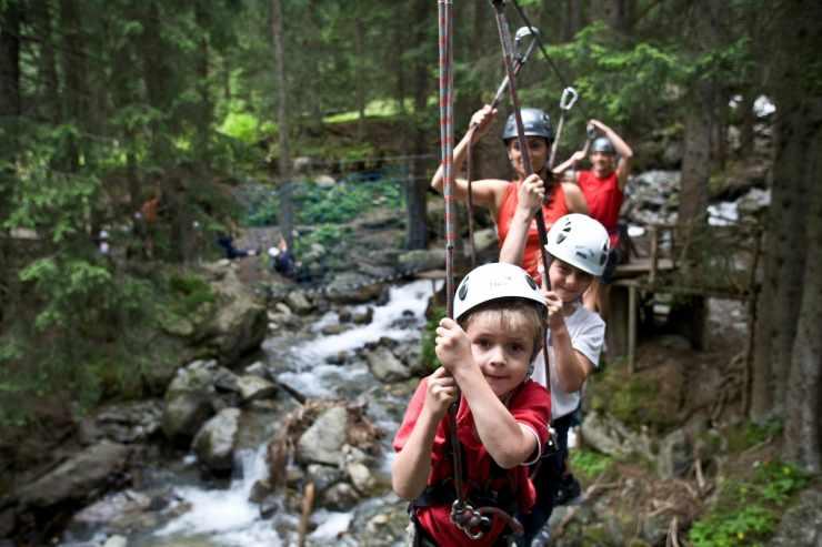 Klettern, Familienurlaub, Familienhotel Mateera, Gargellen, Montafon, Vorarlberg, Österreich