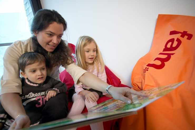 Kinderbetreuung, Familienhotel Mateera, Gargellen, Montafon, Vorarlberg, Österreich