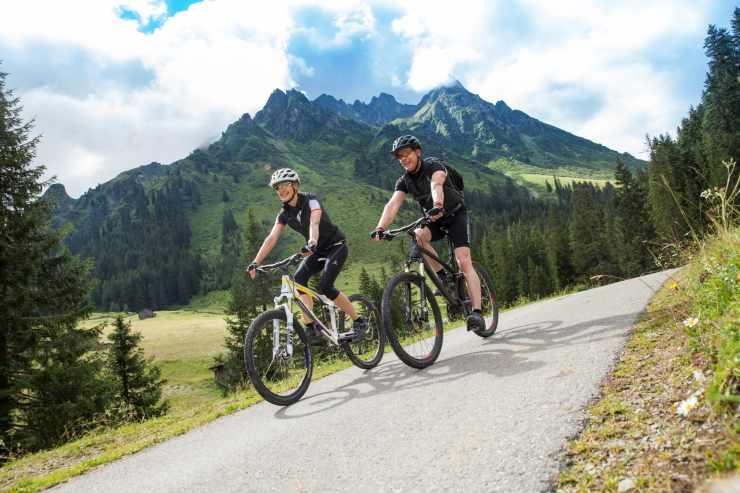Mountainbike, Familienurlaub, Familienhotel Mateera, Gargellen, Montafon, Vorarlberg, Österreich
