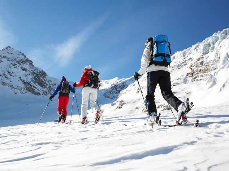 Skitouren, Montafon, Gargellen, Vorarlberg, Österreich