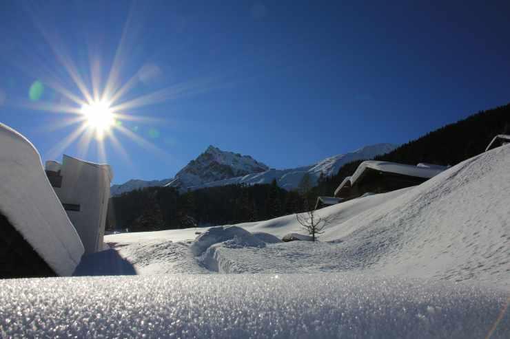 Winterurlaub, Schnee erleben, Gargellen, Montafon, Vorarlberg, Österreich