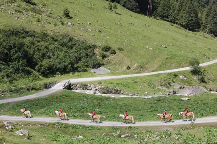 Ausritte, Reithotel Mateera, Gargellen, Montafon, Vorarlberg, Österreich