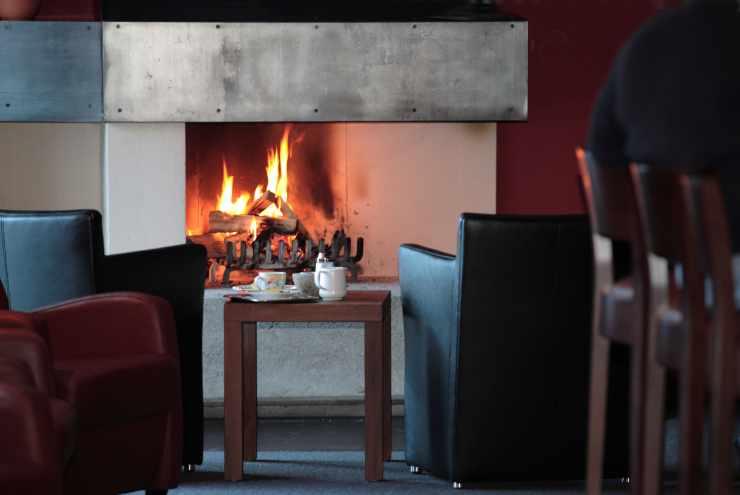 Hotel Mateera, offener Kamin, Winterurlaub