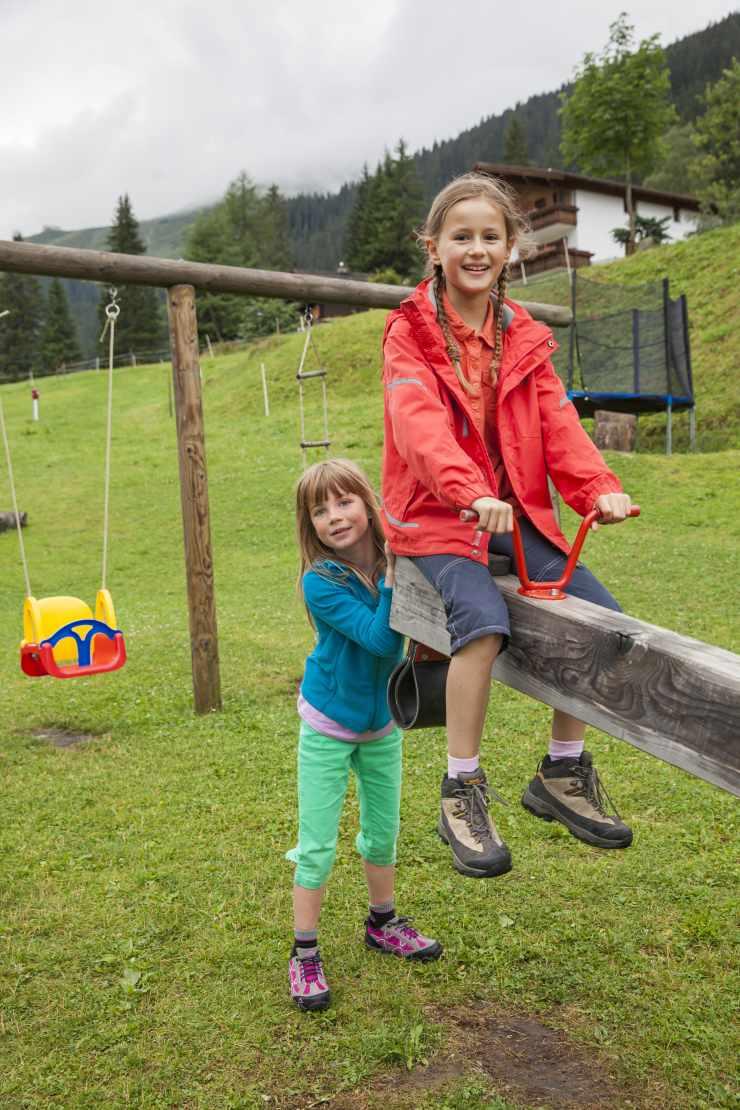 Kinderspielplatz, Hotel Mateera, Montafon, Gargellen, Vorarlberg, Österreich