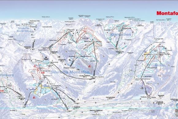 Skigebiet Montafon mit Skigebiet Silvretta Montafon, Golm, Gargellen, Vorarlberg