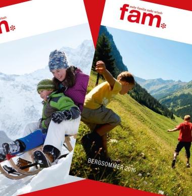 Familienurlaub Sommerkatalog, Winterkatalog, Vorarlberg
