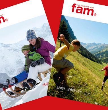 Familienhotel Sommerkatalog und Winterkatalog für Familienferien in Gargellen, Vorarlberg