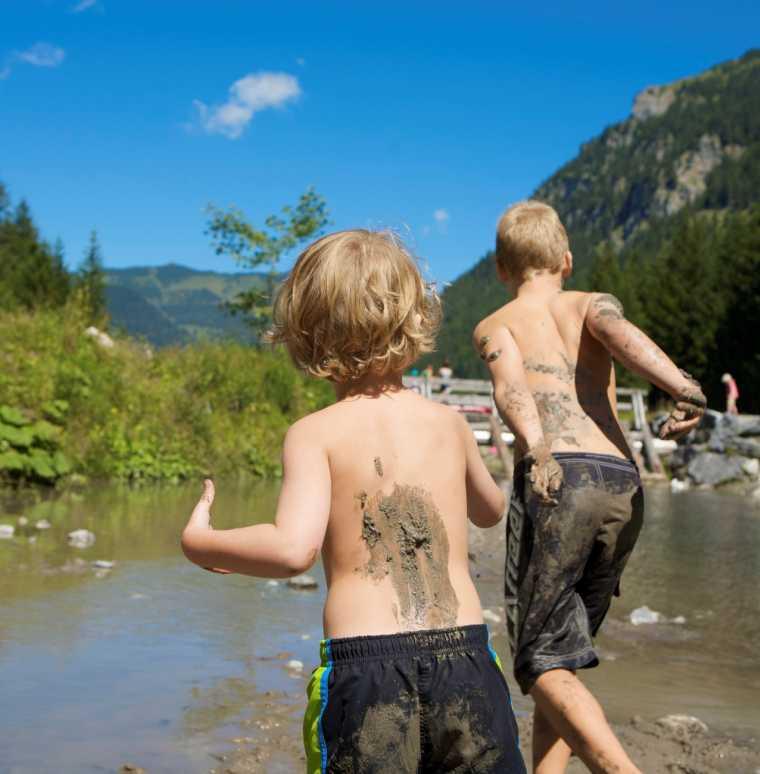 Badeurlaub, Familienurlaub im Sommer, Gargellen, Montafon, Vorarlberg