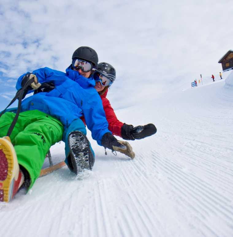 Rodelstrecken im Winterurlaub in Gargellen und im Montafon, Vorarlberg