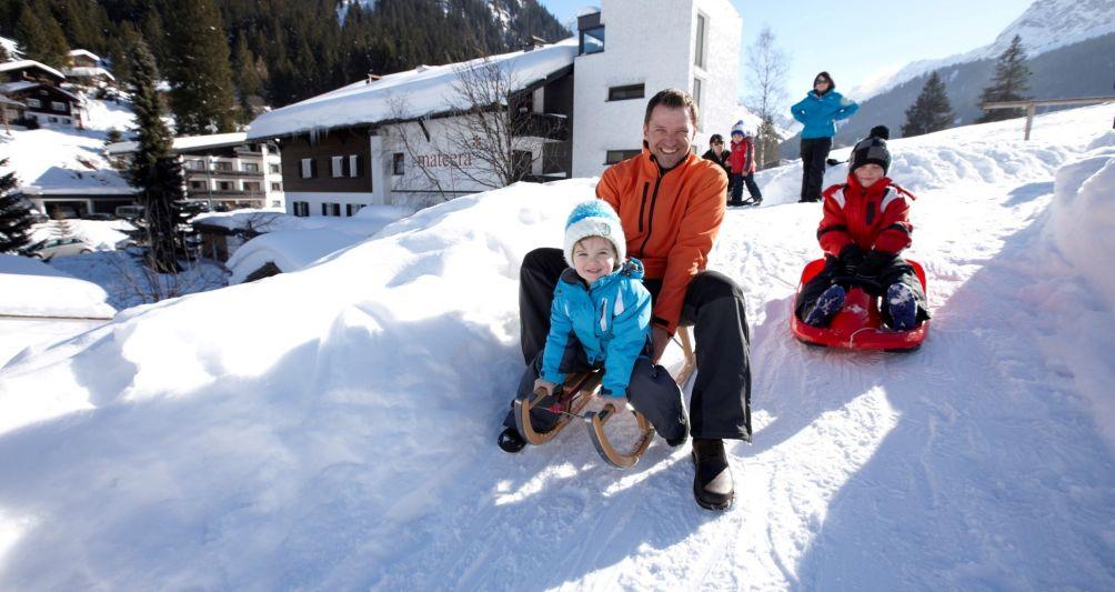 Winterurlaub mit der Familie, Familienhotel Vorarlberg