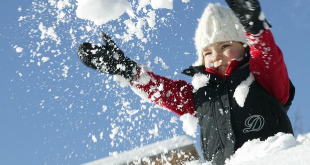 Kinderbetreuung im Winter, Berge, Gargellen, Montafon